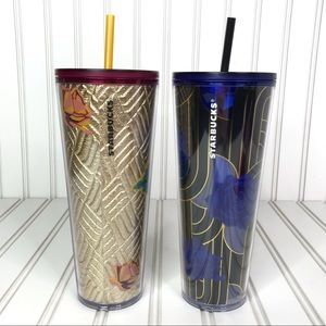 NWT Starbucks 2 Roses Fall Collection Tumblers